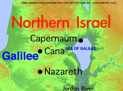 Map of Northern Israel