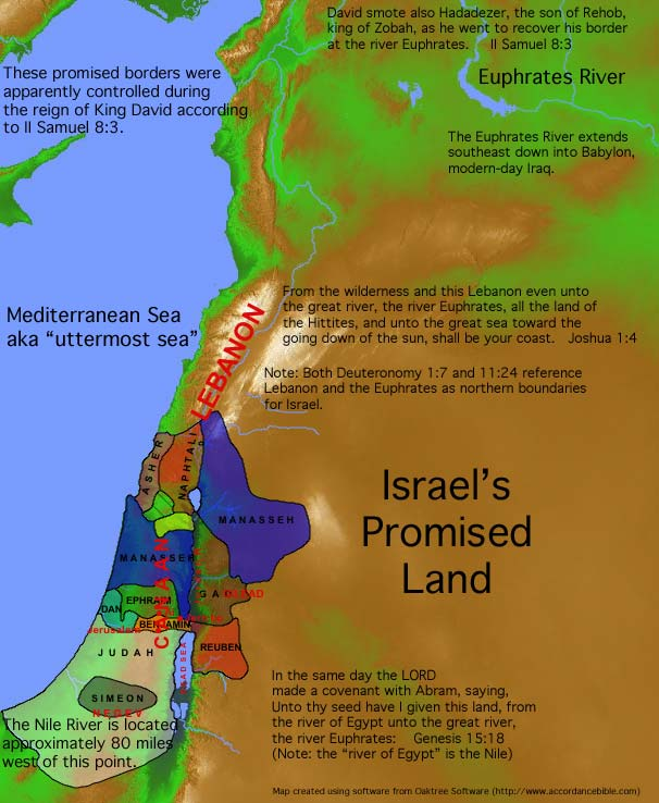 Israel's Promised Land Map
